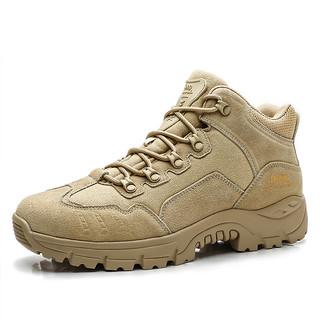JEEP 吉普 男鞋冬款户外徒步反绒皮登山鞋男款运动鞋耐磨男运动休闲鞋