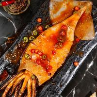 PLUS会员:馋鱼往事 香辣大鱿鱼 400g/只 约30cm