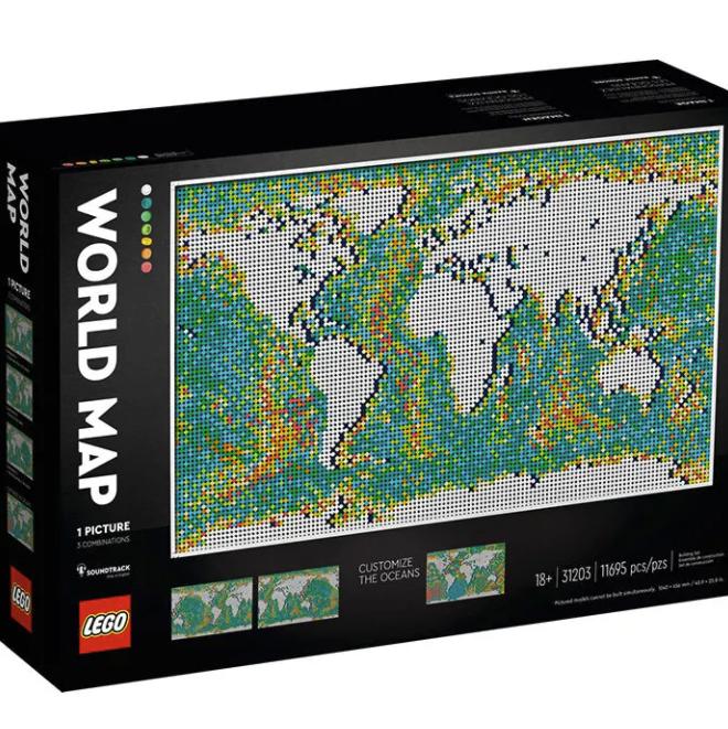 百亿补贴 : LEGO 乐高 艺术生活系列 31203 世界地图