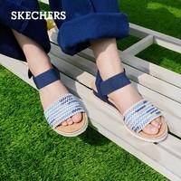 SKECHERS 斯凯奇 女士低跟一字带凉鞋 32867