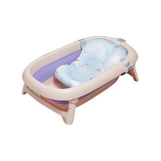 babyboat 贝舟 婴儿折叠浴盆+浴网+洗澡垫 藤萝紫