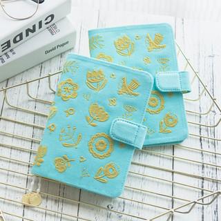 kinbor 布面刺绣款手账本A6记事本简约日程计划小清新文具笔记本子手帐本 花儿朵朵DTB61138