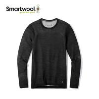 smartwool男士美利奴200系列3D编织保暖 贴身长袖长裤速干功能内衣9286、9287 黑白拼色(上装) M
