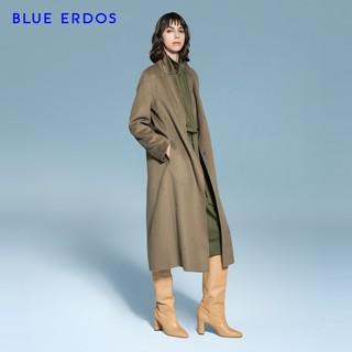 BLUE ERDOS 秋冬中长款毛呢大衣修身纯羊毛保暖大衣女