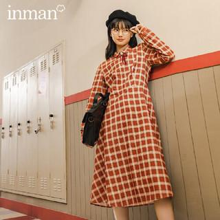 YINMAN 茵曼 女士格子连衣裙 1804173