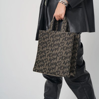 APM Monaco apmMONACO 爆款限量托特包涂鸦帆布包手提包 情侣礼物