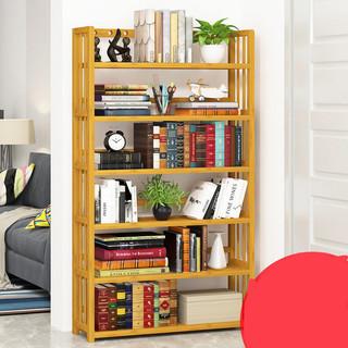 米囹 楠竹书架落地书柜置物架收纳柜储物柜