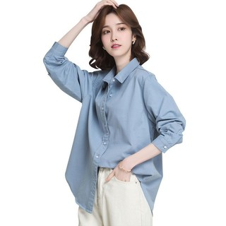 La Chapelle 拉夏贝尔 衬衫女长袖设计感小众时尚衬衣通勤简约纯色宽松外套女