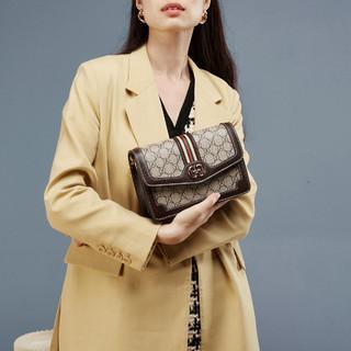 YEARCON 意尔康 时尚休闲印花小方包百搭宽带单肩小包女式斜挎包女包
