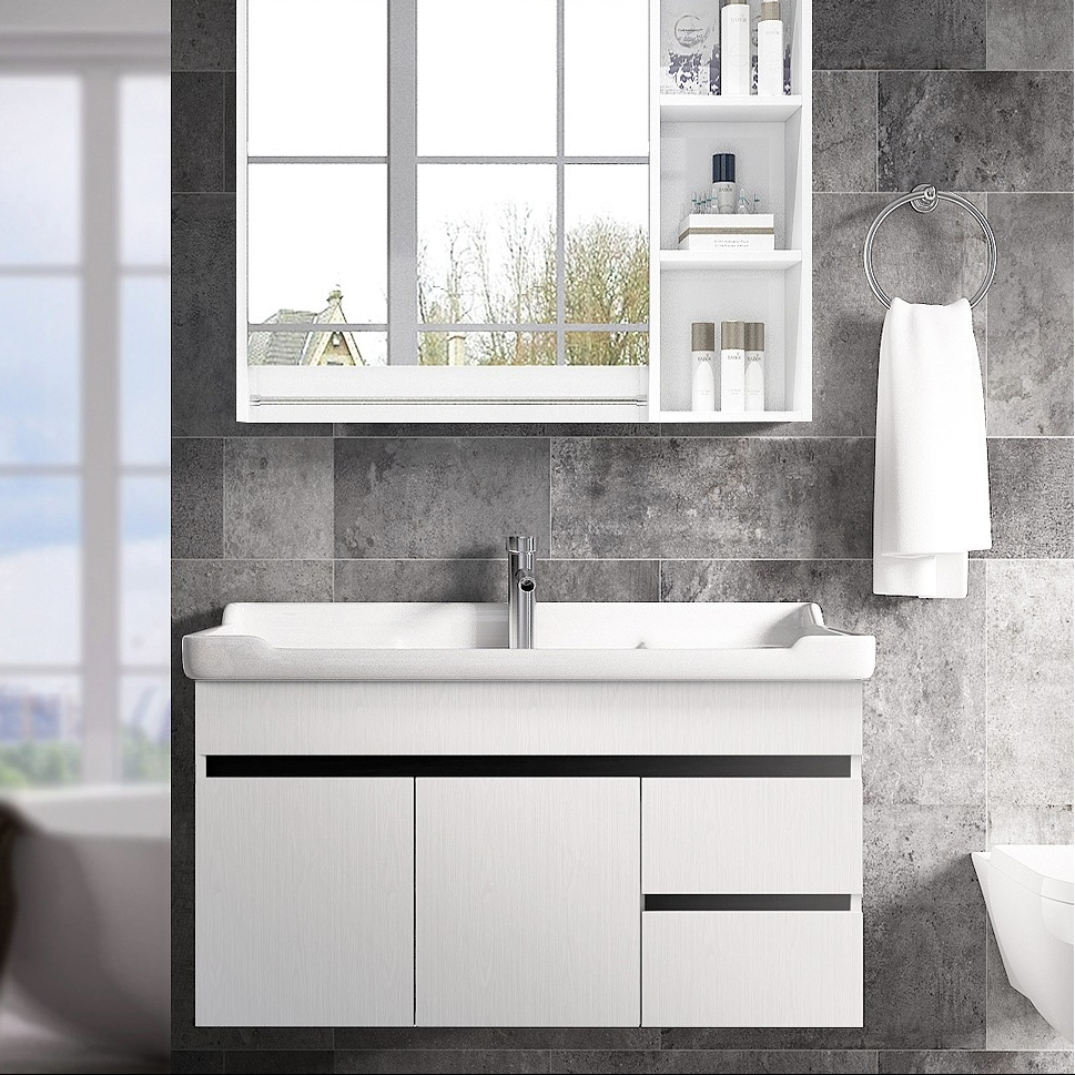 OUDINU 欧帝奴 SM-80 实木浴室柜组合套装 经典款 黑白色 含五金配件 80cm