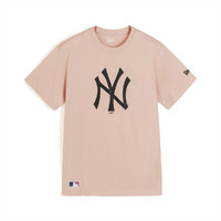 NEW ERA 纽亦华 春秋MLB NY/LA纽约洋基撞色大标男女款情侣款面料透气短袖T恤