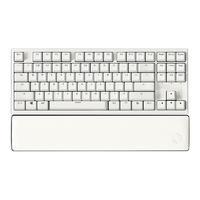 HEXGEARS 黑峡谷 X3 双模无线机械键盘 87键 BOX轴 牛奶绵绵冰 + 白色皮革手托