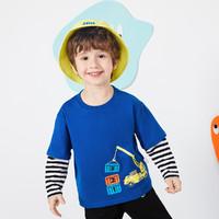 balabala 巴拉巴拉 男童假两件长袖t恤