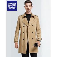 ROMON 罗蒙 男士青年帅气英伦修身大衣外套 中长款