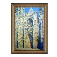 Artron 雅昌 莫奈《正午阳光下的鲁昂大教堂》 63×89cm 装饰画 油画布