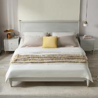 QuanU 全友 126903B 现代轻奢橡胶木双人床 单床B 1.5m