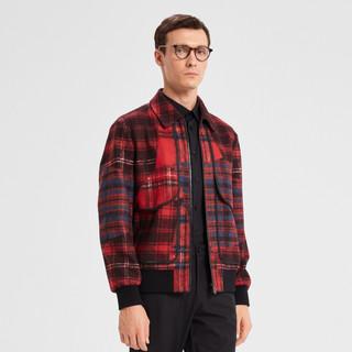 K-BOXING 劲霸男装 男士夹克秋季新品商务休闲运动男式上衣外套