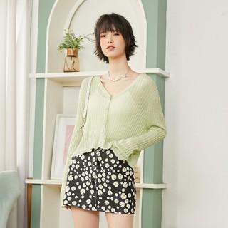 ONLY 2021秋季新款时尚简约纯色轻薄开衫针织衫女|12123A001
