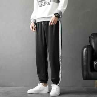 JEANSWEST 真维斯 春夏新款男下装侧边条纹系绳运动男士时尚休闲裤