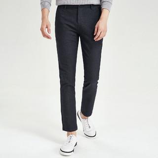 SEPTWOLVES 七匹狼 春季新款男士时尚商务休闲修身厚款休闲裤