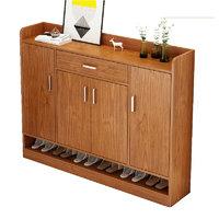 普派 C31 简易多层鞋柜 樱桃木色 120cm