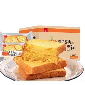 直播专享 : 泓一 南瓜夹心吐司面包 1kg