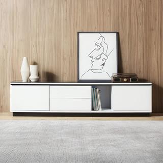 林氏木业 现代简约电视柜茶几组合小户型客厅家用储物地柜套装BI1M