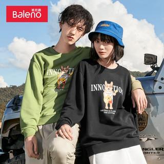 Baleno 班尼路 秋冬季新款韩版动物印花宽松落肩圆领卫衣女长袖T恤