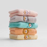 grace 洁丽雅 全棉儿童毛巾 42g 5条装(48*25cm)