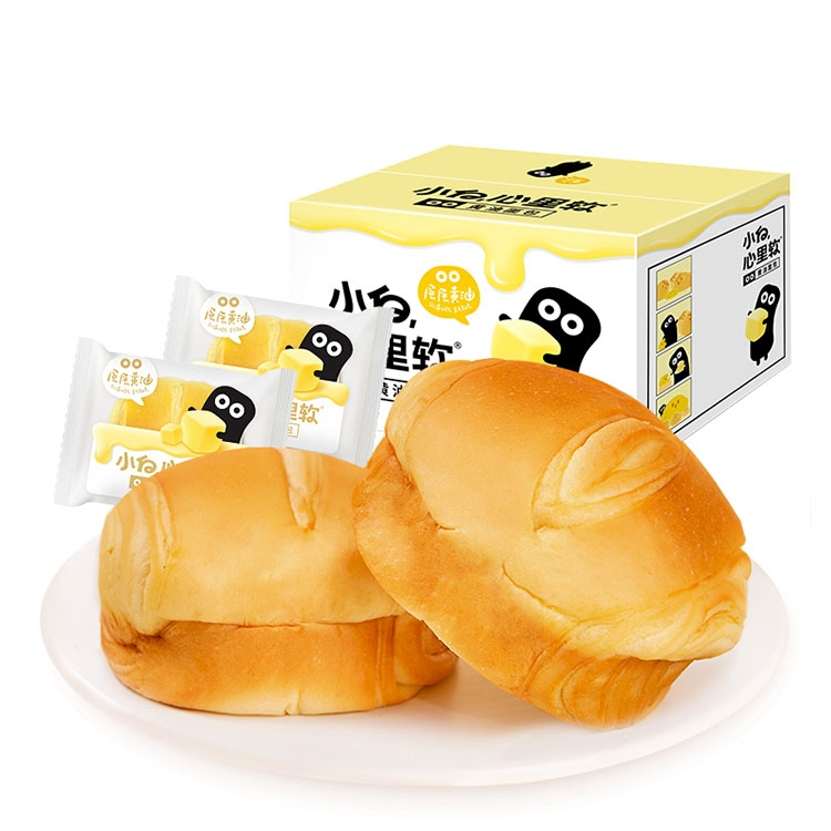 小白心里软 黄油夹心面包 420g