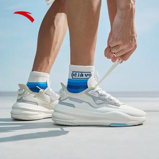 安踏C37男鞋休闲鞋潮2021夏季新款软底网面透气运动鞋男官网旗舰