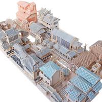 氧氪 中国风古建筑3diy立体拼图 木质模型 八大古镇