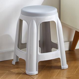 华恺之星 塑料凳子 家用加厚防滑板凳 圆凳高凳换鞋凳餐椅子休闲简约凳子 YK018灰色