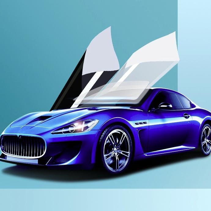 汽车贴膜 R6淡蓝前挡+中黑側后
