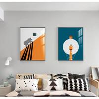橙色趣味 款式-08 35x50cm 儿童房装饰画 现代简约客厅挂画