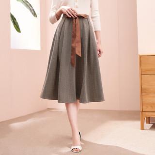 郁香菲 2021夏新款半截裙女韩版高腰直筒半身长裙通勤裙子