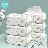 kub 可优比 婴儿一次性洗脸巾 80抽 6包