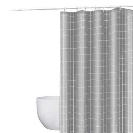 美居客 磁性挡水浴帘套装 1.5*2m 雅灰色