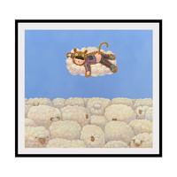 维格列艺术 戴大山油画 《放羊娃的春天》50x54cm 艺术品挂画