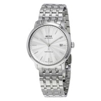 MIDO 美度 Mido Baroncelli Automatic Silver Dial Watch M3895.4.11.1