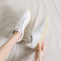 Semir 森马 时尚透明大底小白鞋女秋季透气板鞋女鞋