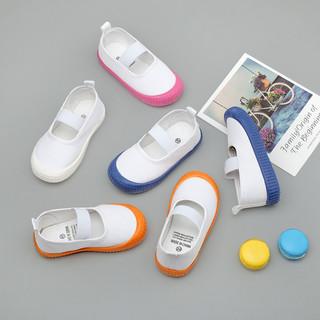 幼儿园小白鞋学生童鞋帆布鞋白球鞋儿童白布鞋男童女童白色室内鞋
