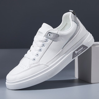 oulisasi 欧利萨斯 21秋季新款小白鞋潮流运动鞋时尚板鞋低帮轻便舒适男士休闲鞋男鞋