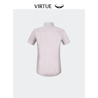 富绅夏装纯棉美式工装衬衣男士时尚多口袋修身纯色衬衫男