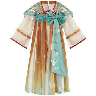 十三余 小豆蔻儿 瑶遇见神鹿-王者荣耀联名款 刺绣齐胸连衣裙 SGF142637 童装