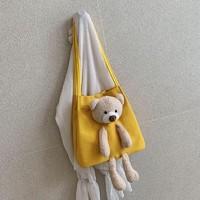 安波尔特 小熊帆布包
