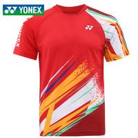 YONEX 尤尼克斯 羽毛球服男士短袖YY速干衣服运动比赛训练T恤110521BCR