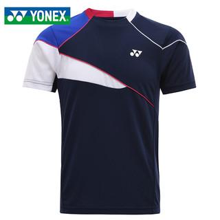 YONEX 尤尼克斯 羽毛球服男士健身锻炼跑步短袖T恤yy速干上衣110351BCR