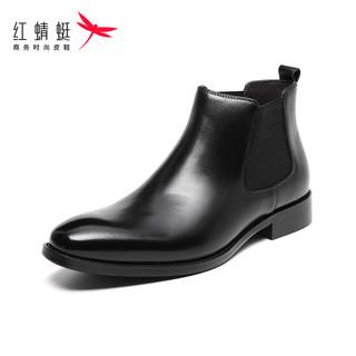 RED DRAGONFLY 红蜻蜓 男士高帮鞋秋冬新款切尔西靴英伦短靴真皮商务休闲潮靴