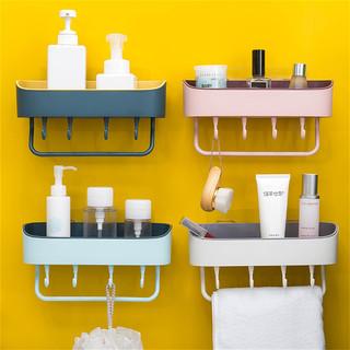 驻康 免打孔卫生间浴室壁挂置物架 多功能厨房墙上塑料收纳整理架家用